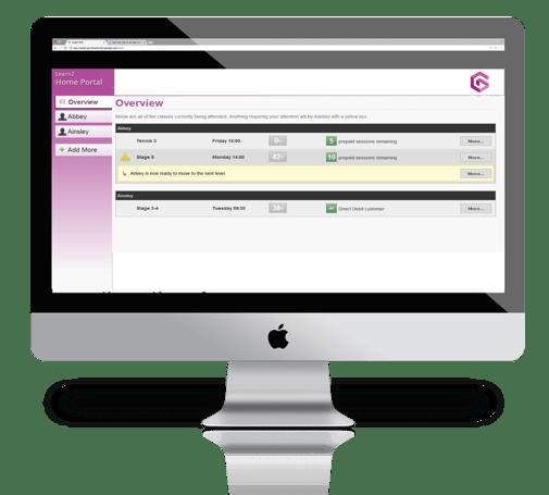 Learn2 Home Portal enroll home screen